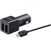 Duracell 2.4A Dual Car Charger + Lightning Cable (BUN0091A)