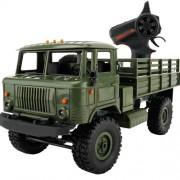 WPL B-24 Full Body 1:16 Mini 2.4GHz 4WD RC Military Truck Control Car Toy (Green)