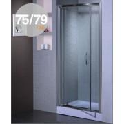 Porta doccia battente in cristallo 6 mm mod Aida cm. 75/79