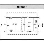Modul de alimentare IEC cu filtru Yunpen, 2 x 4,6 mH, 2 A