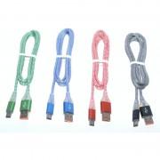Cablu Panzat USB tata la Tip C tata cu Led D8-32C
