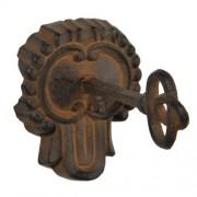 J.42154 Kulcs fogas barna,fém,8x14x10cm