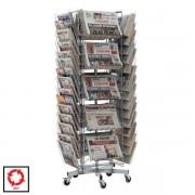 Edimeta Tourniquet rotatif journaux 30 cases