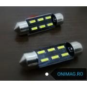 becuri auto c5w led 6 smd numar inmatriculare plafoniera lumina alba