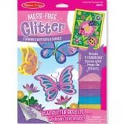 Създай картинка с блестящи стикери - Пеперуди - 19511 - Melissa and Doug, 000772195119