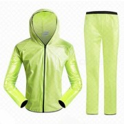 Ciclismo al aire libre Separated Type Raincoat for Men Mujer - Verde (XXL)