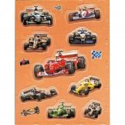 Geen Stickervel race voertuigen