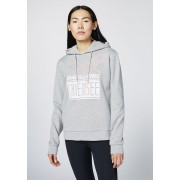 CHIEMSEE Damen Kapuzen-Sweatshirt Hoody ANGEL FIRE, neutral gray