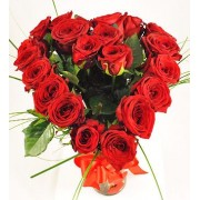 Buchet in forma de Inima din trandafiri
