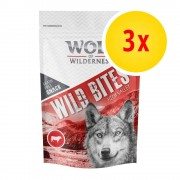 Wolf of Wilderness Fai scorta! Wolf of Wilderness Snack - Wild Bites 3 x 180 g - Wide Acres - Pollo