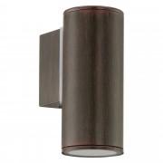 EGLO 94104 | RigaLED2 Eglo zidna lampa 1x GU10 240lm 3000K IP44 braon antik