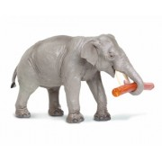 Safari Ltd Wildlife Asian Elephant with Log Figure