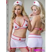 Set trasparente da infermiera Sharon White