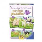 Моят първи пъзел Ravensburger 2/4/6/8 части - Животни от фермата, 7007077
