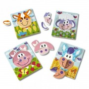 Set 4 puzzle Animale domestice Melissa Doug