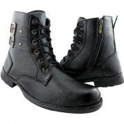 Elvace Black Boot for men-5002B