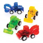 Baker Ross Pullback Racing Diggers - 6 Pullback Toys In Assorted Colours. Pull Back And Go Toys. Party Bag Fillers. Size 6cm.
