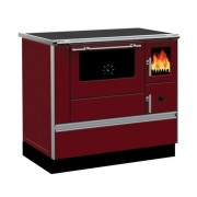 Soba de gatit cu plita si cuptor, Alfa Plam, Dominant 90, 7 kW, rosu, stanga