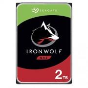 Seagate Disco duro interno de 1 TB IronWolf NAS SATA 6 Gb/s NCQ 64 MB caché (3,5'') Embalaje última intervensión de frustración (ST2000VN004), IronWolf, 2 TB