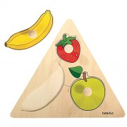 beleduc Fruits Triangle Puzzle (3 Piece)