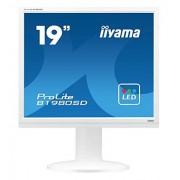 liyama iiyama b1980sd-W1 48,3 cm (19 inch) LED-monitor (VGA, DVI, 5 ms reaktionsziet) Wit