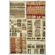 Covor Decorino Patchwork C116-032003, Bej/Verde/Maro, 67x120 cm