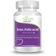 Natures Velvet Lifecare Iron Folic Acid with Vitamin B6 and B12 For Supplementation in Pregnancy 60 Tablets