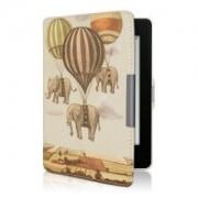 kwmobile Flipové pouzdro s designem slon pro Amazon Kindle Paperwhite 3 - béžová