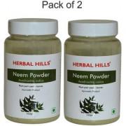 Herbal Hills Natural Neem Leaf (azadirachta indica) Powder Combo (100g + 100g) - Blood purifier