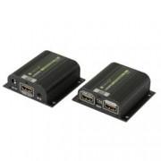 Techly Amplificatore Extender HDMI Full HD 3D POE su cavo Cat.6/6A/7 40m con EDID ed IR