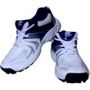 Port Boys Lace Cricket Shoes(White)