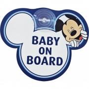Semn de avertizare Baby on Board Mickey Disney Eurasia 25008