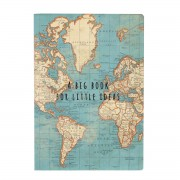 Notitieboekje - schrift A5 met vintage wereldkaart | Sass & Belle