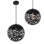 [lux.pro]® Lámpara colgante de diseño negra metal - redonda