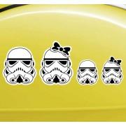 TenStickers Sticker Familie Star Wars