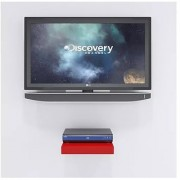 Onlineshoppee MDF Beautiful Design Set top box Wall Shelf Colour- Red