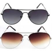 John Dior Aviator, Aviator Sunglasses(Violet, Brown)