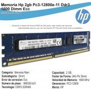 Memoria Hp 2gb Pc3-12800e-11 Ddr3- 1600 Dimm Ecc 669320-b21