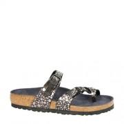 Birkenstock Mayari slippers met metallic stippen