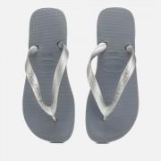 Havaianas Women's Top Tiras Flip Flops - Steel Grey - EU 39-40/UK 6-7 - Grey