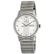 Titan Quartz Silver Dial Mens Watch-1580SM03