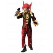 Deguisetoi Déguisement luxe clown fou avec masque homme - Taille: M / L