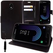 Pour Samsung Galaxy J3 (2017) J330f/ J3 Pro (2017) : Etui Housse Coque Pochette Portefeuille Livre Support Video Cuir Pu - Noir + Mini Stylet