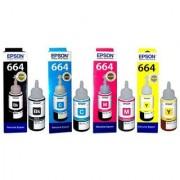 Epson Genuine Ink All Colors (T6641-B T6642-C T6643-M T6644-Y) 100 Original Ink