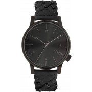 Komono Winston Woven Uhr schwarz