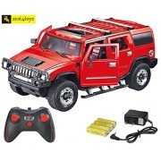 Zest 4 Toyz 1:16 Scale Rechargeable R/C H2 Hummer with Opening Doors & Glowing Headlights. (Red)