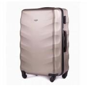 Średnia walizka podróżna STL402 CHAMPAGNE 62L ABS - ZŁOTY