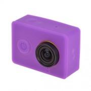 GuoBomatealliance Accesorio de cámara de acción Estuche Protector de Gel de Silicona for dji & Gopro Acessories for Xiaomi Yi Sport Camera (Negro) (Color : Púrpura)