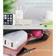 Incarcator retea Usams U2+ Dual USB HTC One E9 Plus Alb