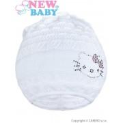 NEW BABY Pletená čepička-šátek New Baby kočička bílá